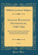 Annales Botanices Systematicae  1848 1849  Vol  1 PDF