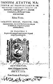 Omnium atatum nationum ... in veritatem corporis Christi in eucharistia consensus per XVI. annorum centenarios