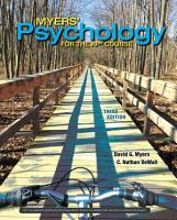 Myers  Psychology for the AP   Course PDF