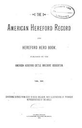 American Hereford Record and Hereford Herd Book: Volume 14