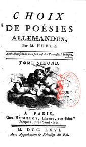 Choix de poésies allemandes: Volume1