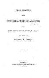 Proceedings of the Bunker Hill Monument Association ... at the Annual Meeting