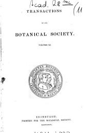 Transactions and Proceedings of the Botanical Society of Edinburgh: Volume 11