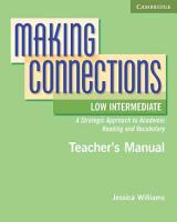 Making Connections Low Intermediate Teacher s Manual PDF