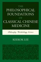 The Philosophical Foundations of Classical Chinese Medicine PDF