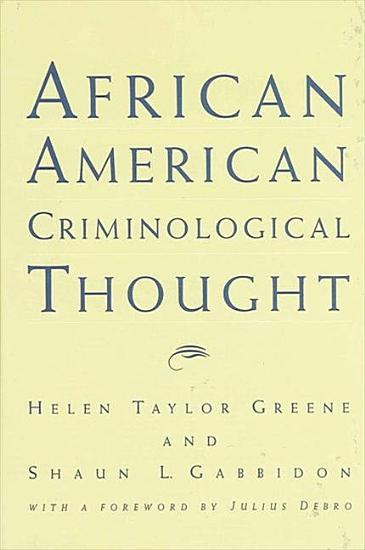 African American Criminological Thought PDF