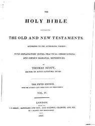 The Holy Bible With Explanatory Notes Practical Observations And Copious Marginal References Book PDF