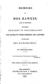 Memoirs of Mrs. Hawkes, late of Islington