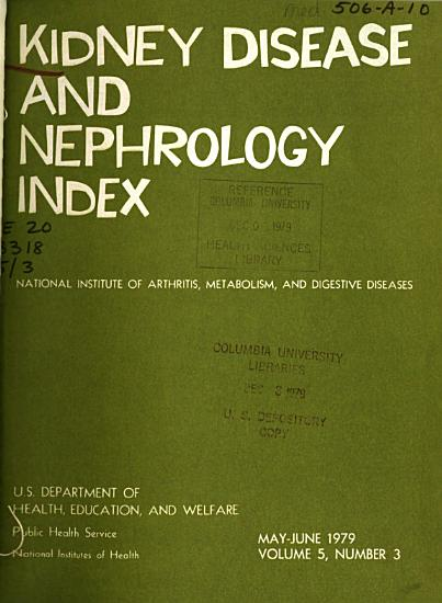 Kidney Disease and Nephrology Index PDF