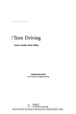 Teen Driving PDF