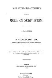 Some of the Characteristics of Modern Scepticism