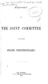 Report of the Joint Committee to Visit the State Penitentiary