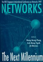 Networks  The Next Millennium   Proceedings Of Singapore International Conference On Networks 1997 PDF