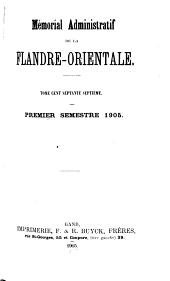 Mémorial administratif de la Flandre orientale: Volume 177