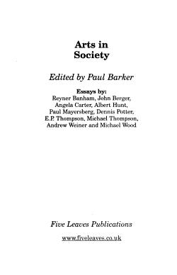 Arts in Society PDF