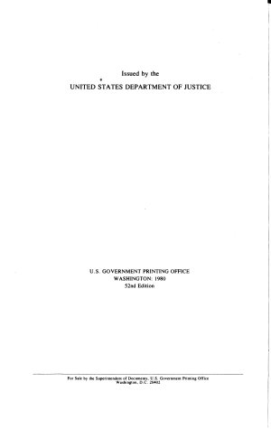 Register of the U S  Department of Justice and the Federal Courts