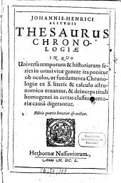 Thesaurus chronologiae