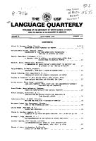 University of South Florida Language Quarterly PDF