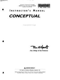 Instructor s Manual  Conceptual Physics Book