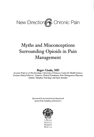 Myths and Misconceptions Surrounding Opioids in Pain Management PDF
