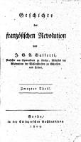 Geschichte der franz  sischen Revolution PDF