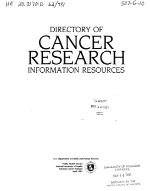 Directory of Cancer Research Information Resources