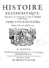 Histoire ecclesiastique: Volume28