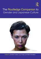 The Routledge Companion to Gender and Japanese Culture PDF
