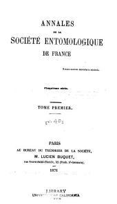 Annales de la Société entomologique de France: Volume40