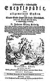 Oekonomische encyklopädie, oder Allgemeines system der staats- stadt- haus- u. landwirthschaft, in alphabetischer ordnung: Band 40