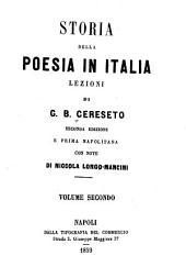 Storia della poesia in Italia: lezioni, Volume 2