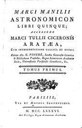 Astronomicon: libri quinque, Volume1