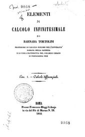 Elementi di calcolo infinitesimale: Calcolo differenziale, Volume 1