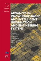 Advances in Knowledge Based and Intelligent Information and Engineering Systems PDF