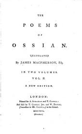 The poems of Ossian, tr. by J. Macpherson