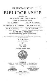 Orientalische Bibliographie: Band 6