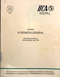 Informe IX reuni  n general  Zacatecas  M  xico 18 26 de abril de 1990 PDF