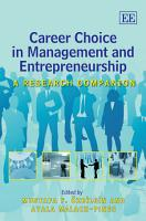 Career Choice in Management and Entrepreneurship PDF