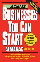 Adams Businesses You Can Start Almanac PDF