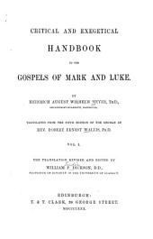 Critical and Exegetical Handbook to the Gospels of Mark and Luke: Volume 1