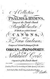 A Collection of Psalms&Hymns, sung at the Parish Church Brighthelmston, etc