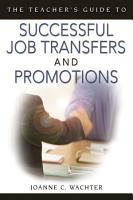 The Teacher s Guide to Successful Job Transfers and Promotions PDF