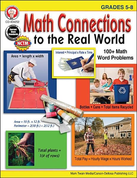 Download Math Connections to the Real World  Grades 5   8 Book