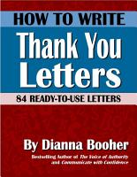 How to Write Thank You Notes PDF