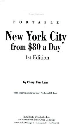 Frommer s   Portable New York City from  80 a Day PDF