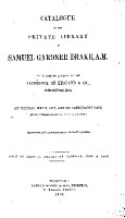 Catakigue of the Private Library of Samuel Gardner Drake  PDF
