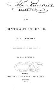 Treatise on the Contract of Sale Book