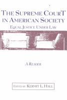 The Supreme Court in American Society PDF