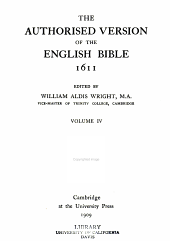 The Authorised Version of the English Bible, 1611: Volume 4