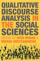 Qualitative Discourse Analysis in the Social Sciences PDF